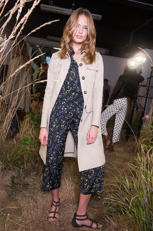 Casual Cool - Pyjama dressing is back! Tyler's navy silk jumpsuit with a floral design symbolises a woman ready for anything - whether that means attending a picnic or heck, riding a motorcycle.