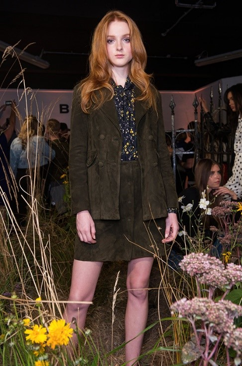 Structured Suede - This seventies-inspired suede jacket and matching skirt was our favourite for cold Summer nights. We're thinking of jumping on the bandwagon already - tights anyone?