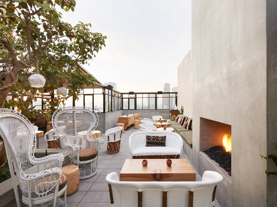 This is the DTLA Ace Hotel rooftop bar situation. Behold.