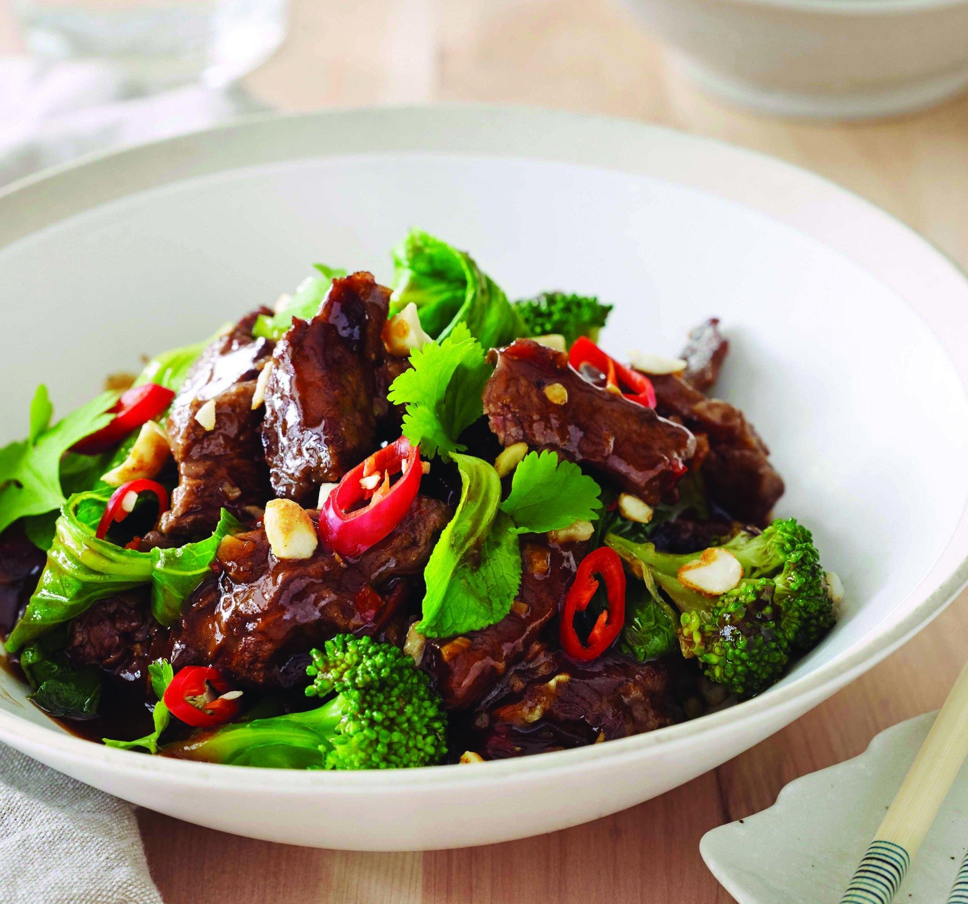 Asian Inspired Beef with Greens