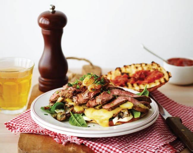 Steak, Cheese, and Onion Melt - Quick to prepare and tasty to eat