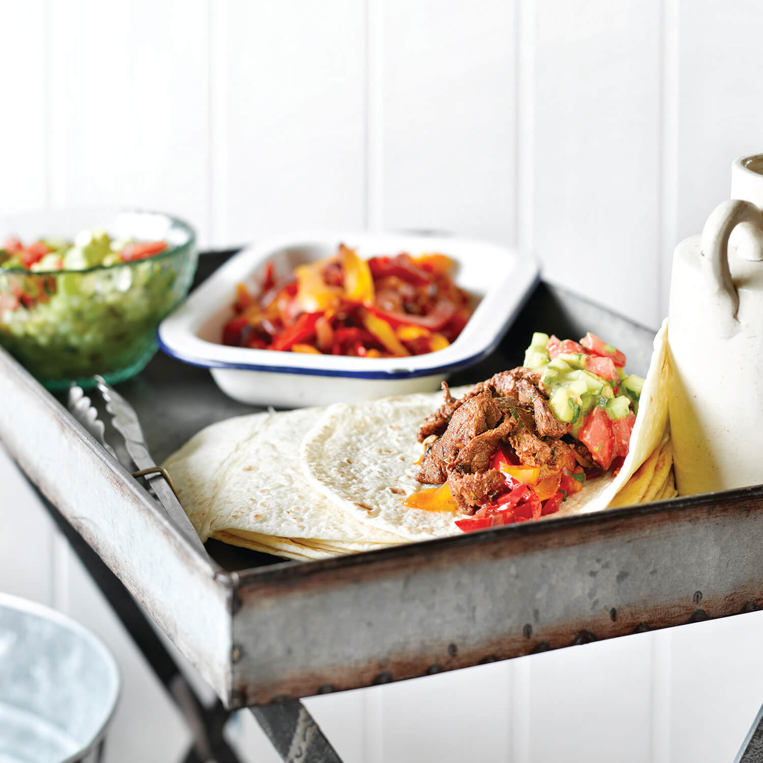 Barbecue Fajitas with Avocado Salsa
