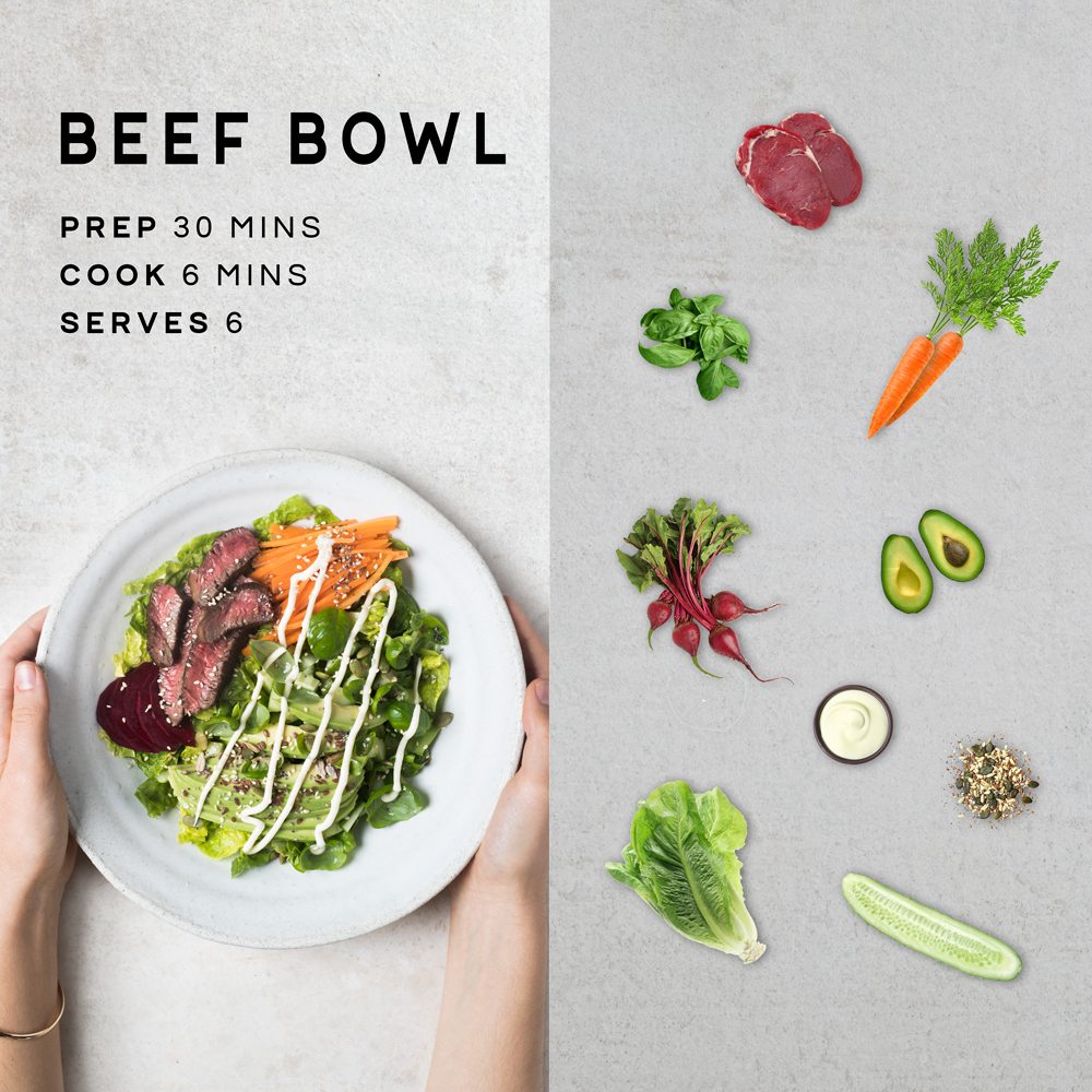 Breaking down our Beef Bowl