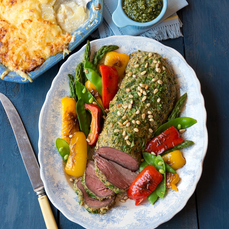 Slow roast beef with fines herbes pesto.jpg
