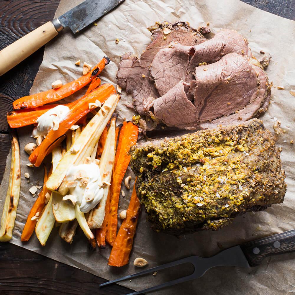 Roast Bolar with homemade Spice Rub