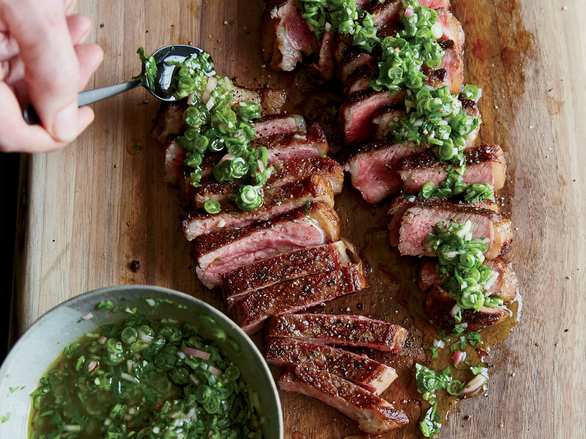 Argentina: Steak with Chimichurri Sauce