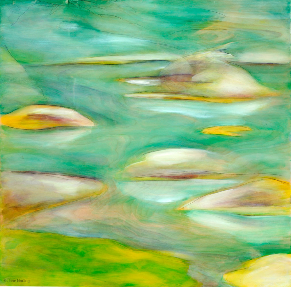 "Morris Islands , oil and graphite on alder panel, 30""x30"", 2009  Location: Gail Steele Wellness Center, 409 Jackson St, Hayward, CA"