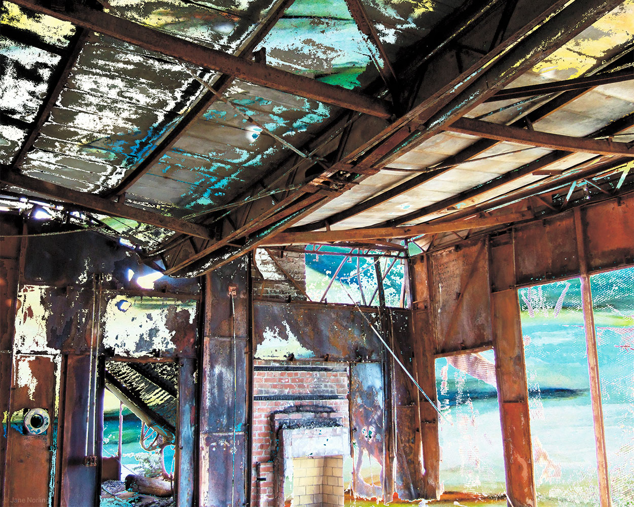 "Tin House 5 , pigment print on aluminum, 16""x20"", 2014. Series  Tin House"