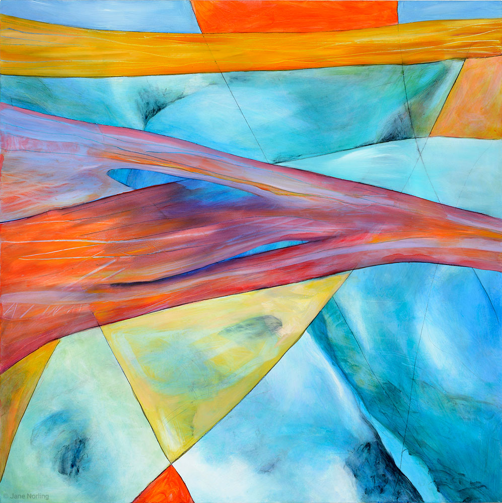 "Fissure 1 New , oil & graphite on canvas, 36""x36"", 2013   Available"