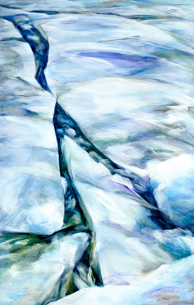 "Chicago Ice , oil/graphite on canvas, 49""x31"", 2009   Available"