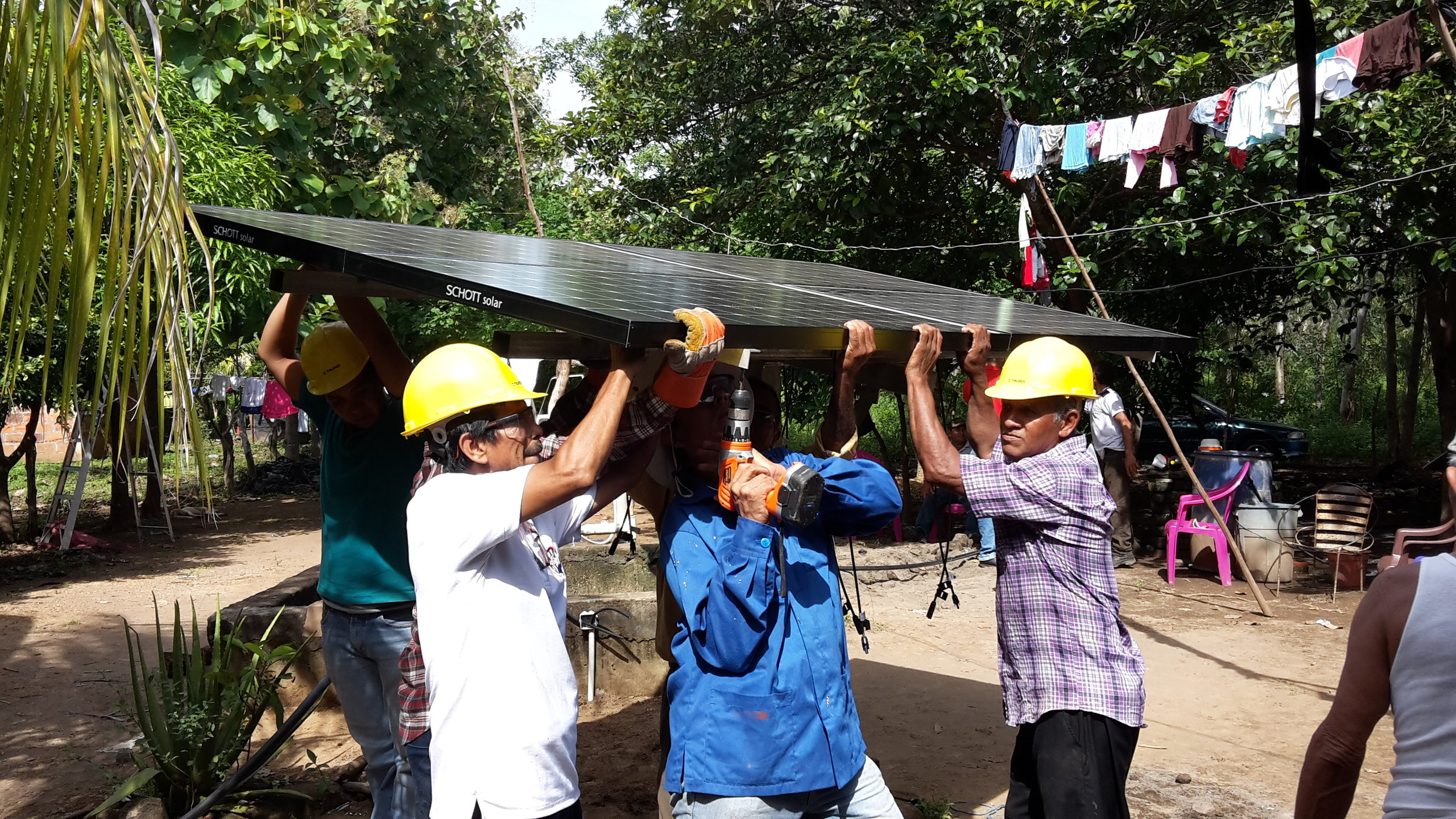Solar Pump system installed in a Nicaraguan community