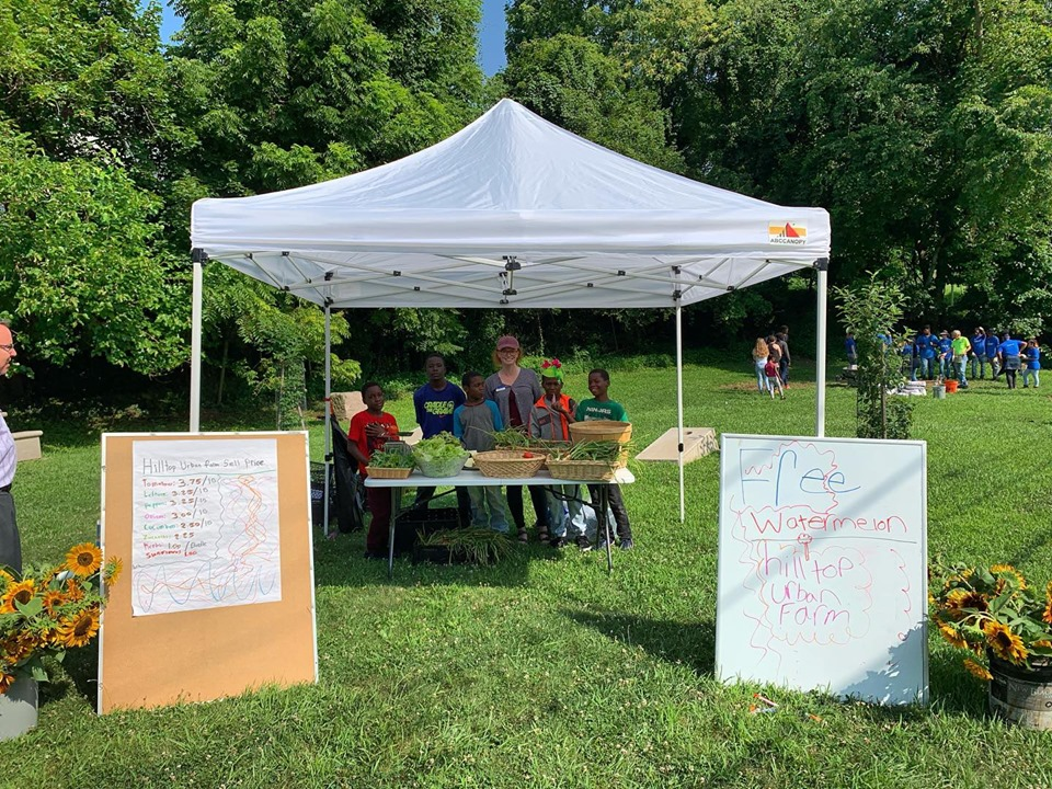Students host the Youth Farmer's Market as part of the entrepreneurship curriculum with Penn State Extension.