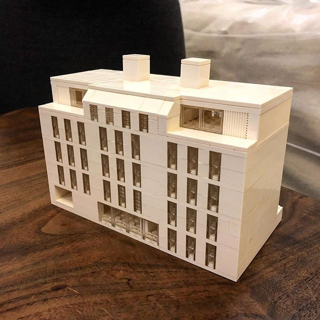 Now modeling with LEGOs #passivehaus #southslope