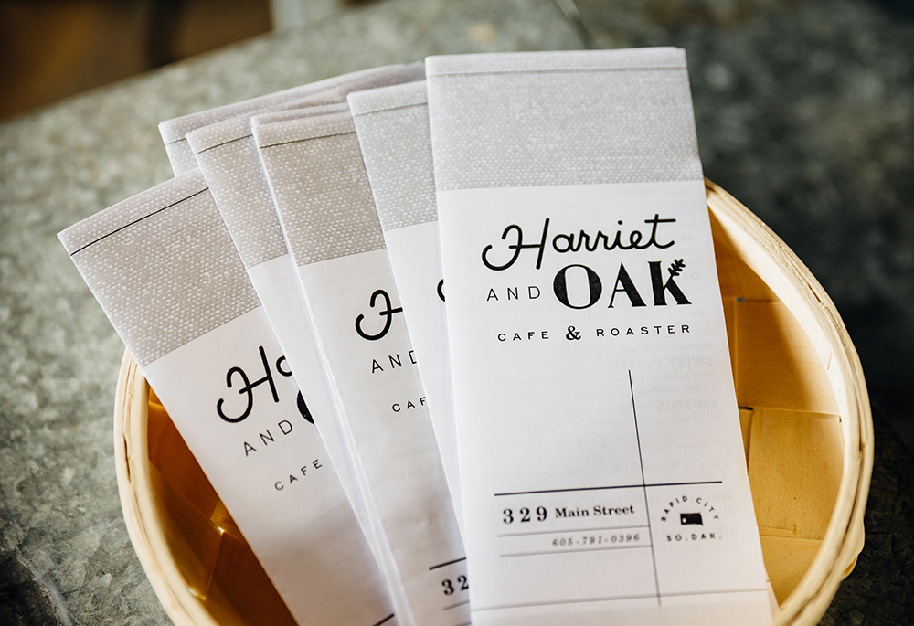 Harriet and Oak Rapid City South Dakota Menu Design by Laurophyll