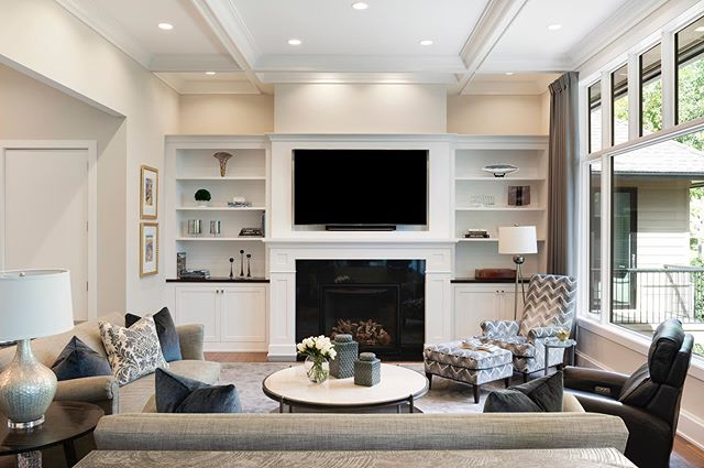 """""""Honestly, I can't pick. I love them all for so many reasons."""" That's the answer we got from the homeowner of our latest build when asked her favorite room of the house.  This Minnetonka project had one goal - to give our client a home that provides a sense of tranquility and joy.  That goal was realized through our collaborative approach to building and blending every square inch of the home with our client's style and the marvelous creativity of @katiebassettinteriordesign.  See more project photos on our website! 📸 @spacecrafting_photography"""