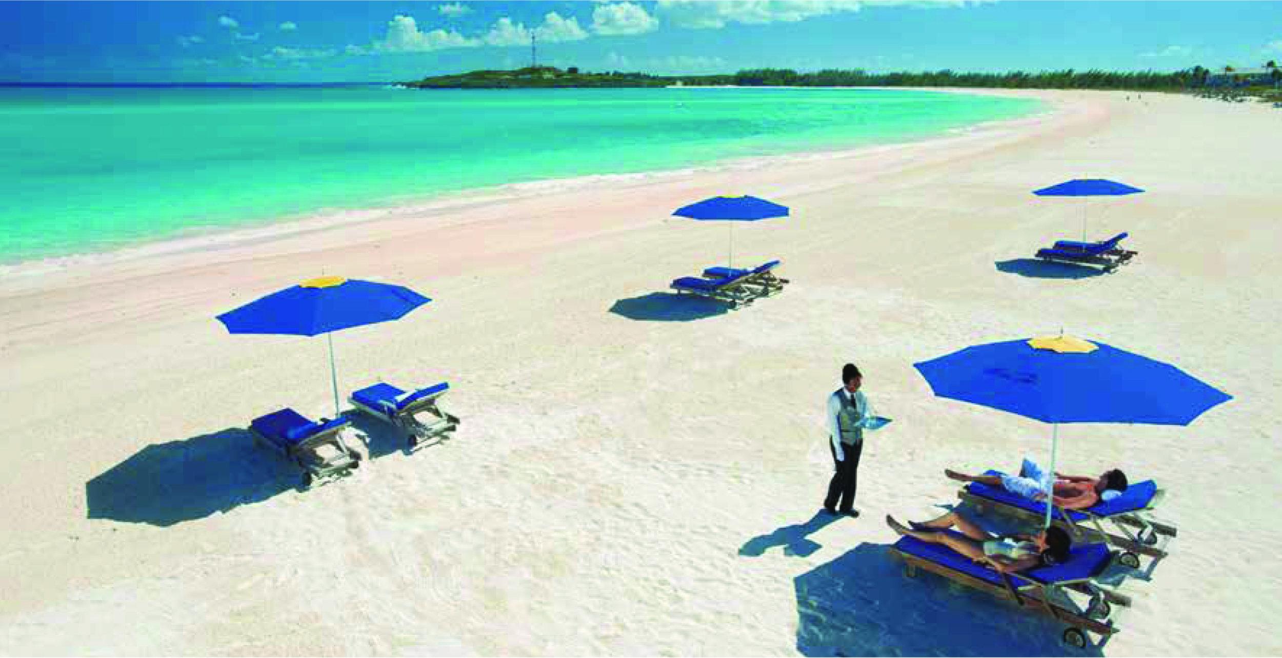 Praia em Bimini - imagem cortesia do Ministério do Turismo das Bahamas