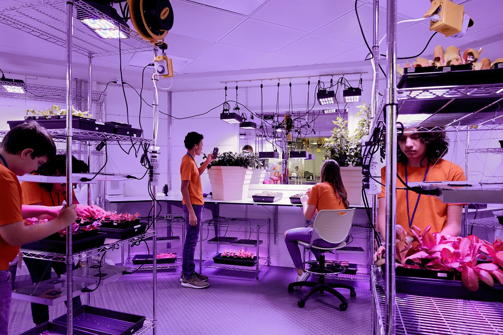 Mars Base 1 - laboratório de plantas e alimentos. Foto: Kennedy Space Center Visitor Complex