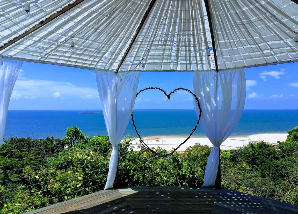 Vista da praia. O local pode ser utilizado para eventos como casamentos, noivados,m etc. Foto:  TripAdvisor
