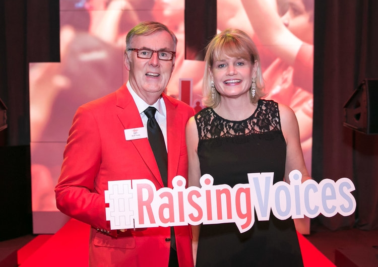 Bob and Rose Fealy pose at the step-and-repeat at Red Jacket Optional 2017.