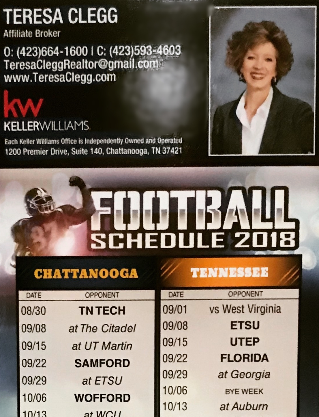 I have extras!! - Love football? Me too! These magnets show Chattanooga, Tennessee, Alabama & Georgia. Let me know if you want one. I have plenty of extras!