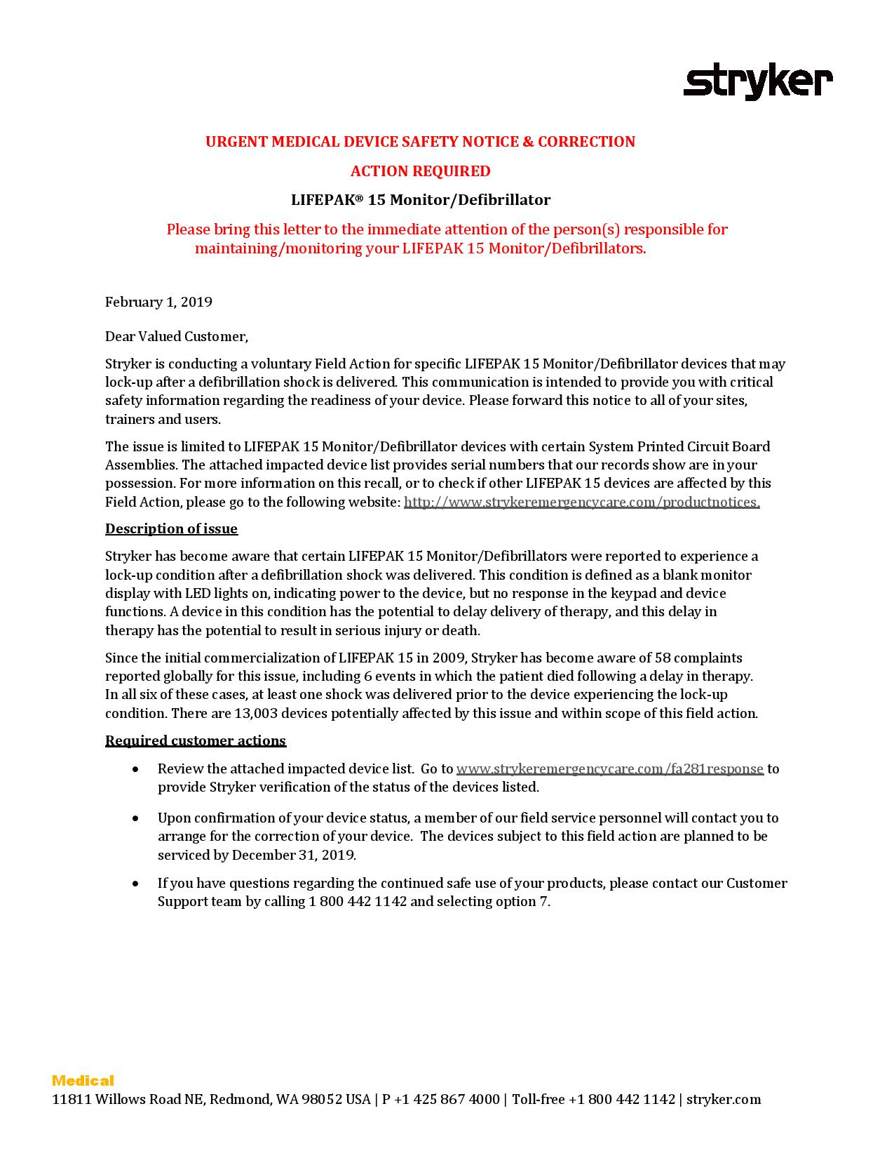 Stryker LifePak 15 Urgent Medical Device Safety Notice 2119-page-001.jpg