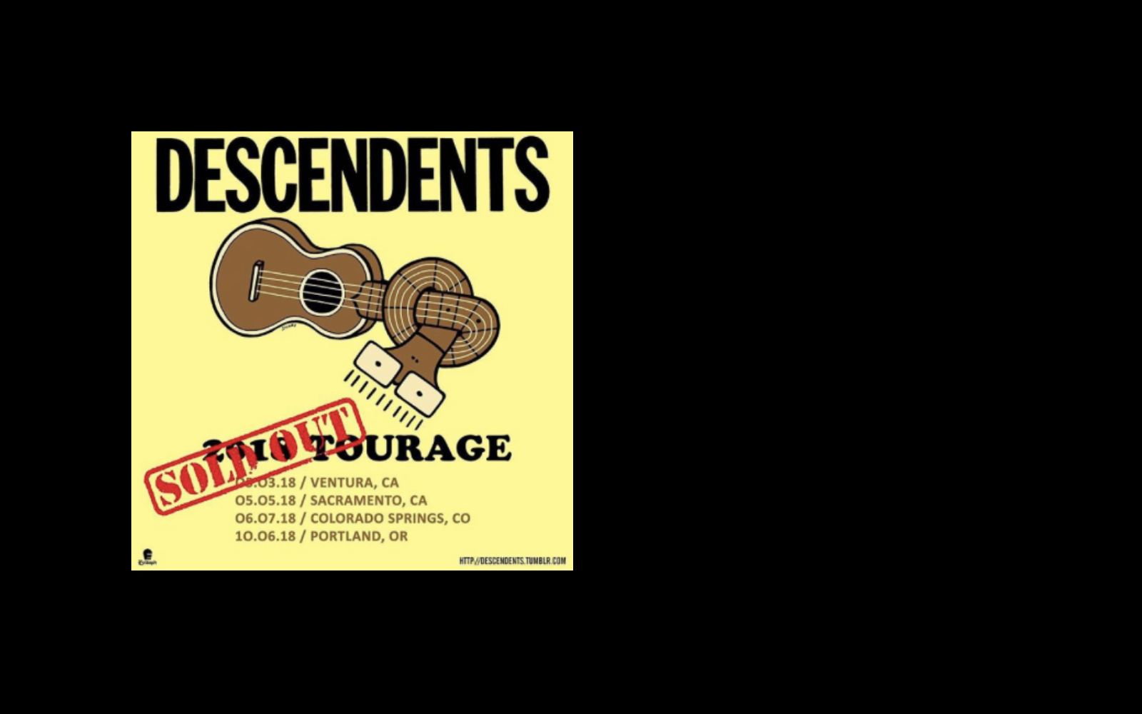 We're hitting the road with Descendents again and A Wilhelm Scream.   Portland is sold out, but you can still catch Spokane and Seattle.     Get tickets