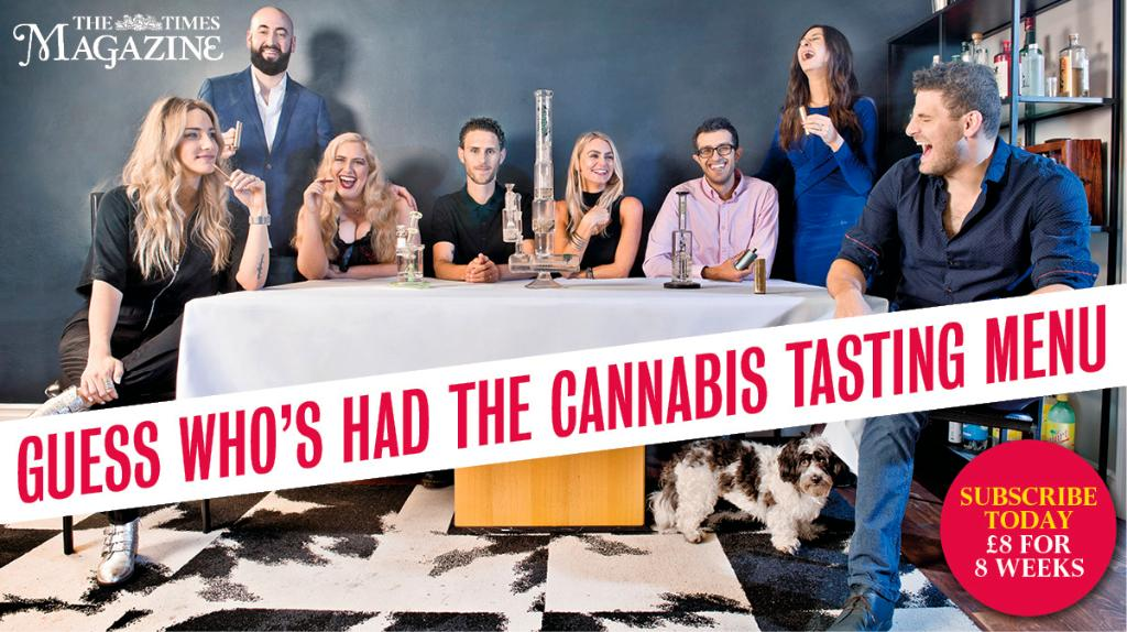 Los Angeles chef Chris Sayegh and his cannabis tasting menus - The London Times Magazine interviews cannabis activists at a dinner hosted by The Herbal Chef in Los Angeles, April 2018.