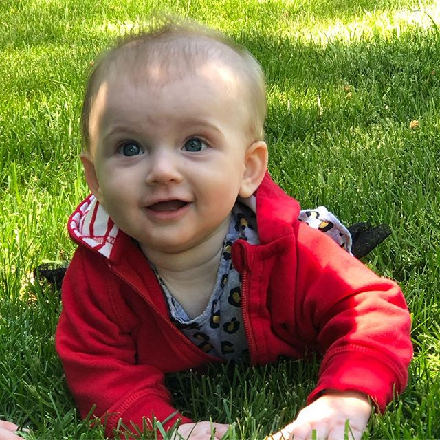 Exploring the grass for the first time.  #babiesofinstagram #family #mothersday
