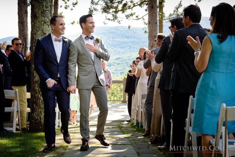 Clark and his husband Matt at their wedding