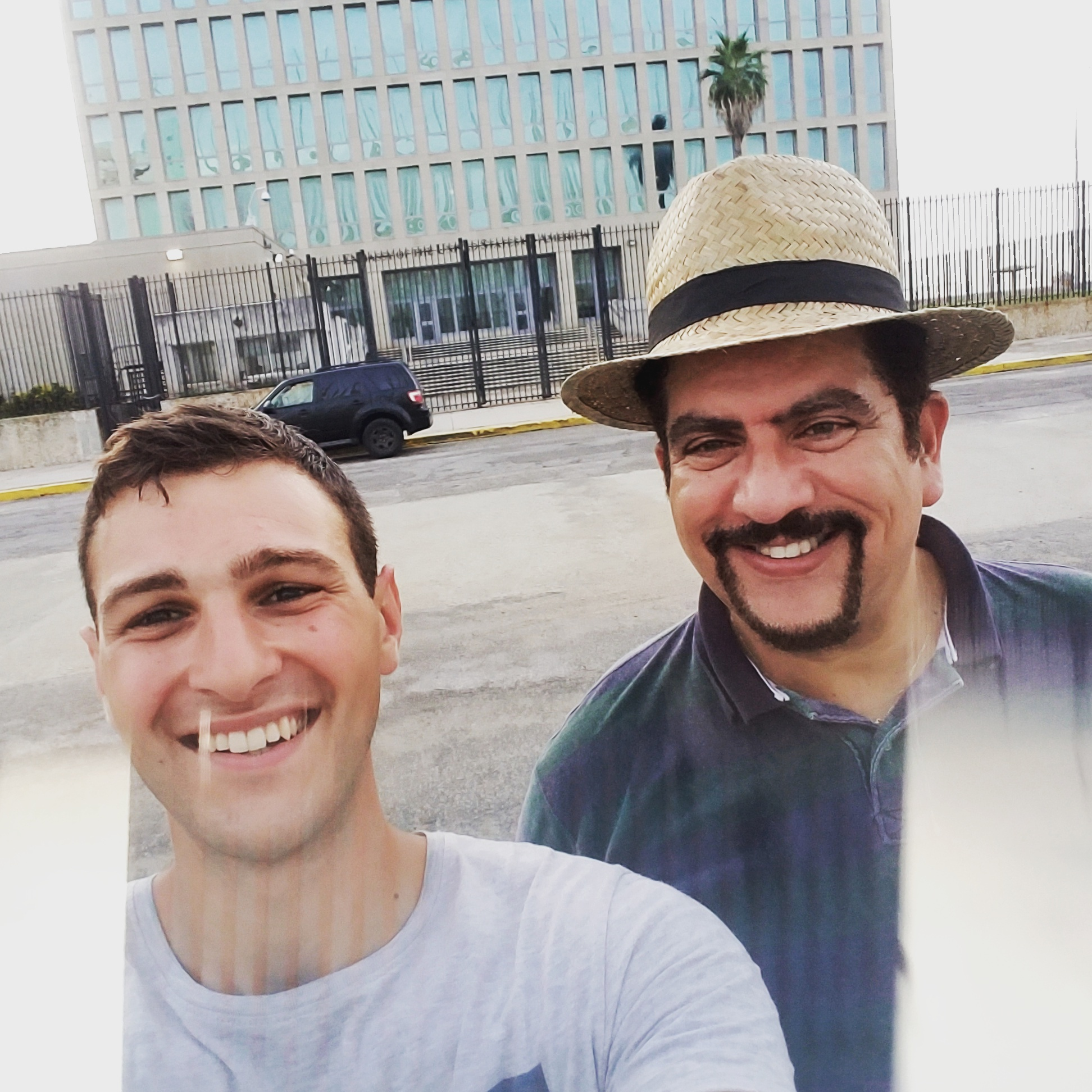 Oswaldo and I outside of the American Embassy