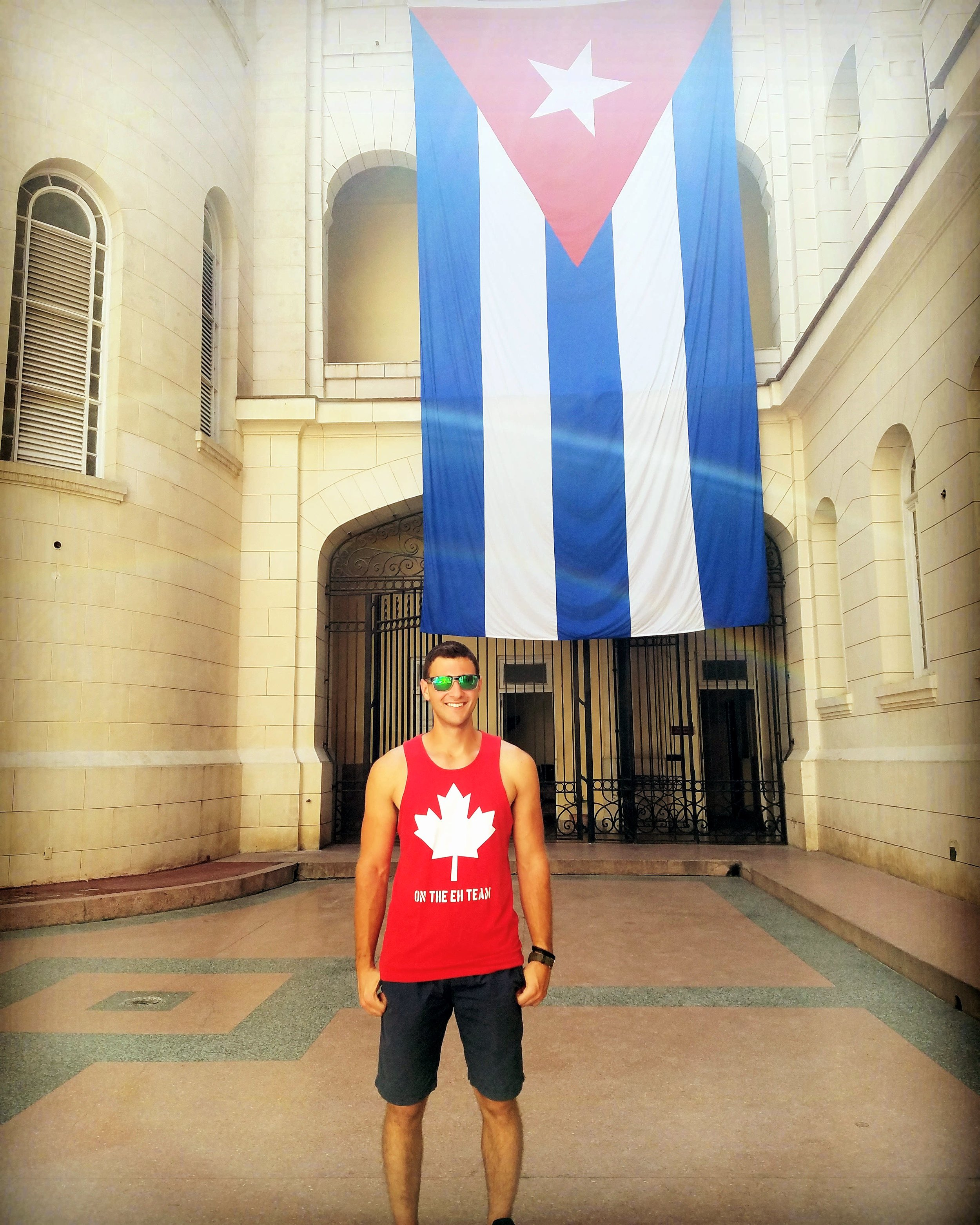 The Cuban Flag at the Museum of the Revolution