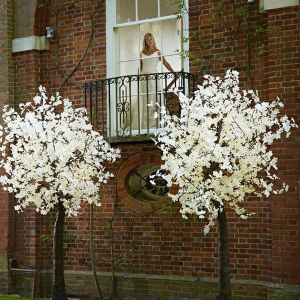 9Ft Lollipop - Lollipop trees are perfect for adding height to a venue without taking up too much space. The tree LEDs start at 5ft, the branches are bendable enabling them to fit perfectly into most spaces. The Lollipop trees are suitable for indoors and out.The tree is 9feet Tall and 5.5feet in diameter and have 1040 LEDs on 13 branches. It is 60 watts and can be dimmed with a dimmer switch if necessary.