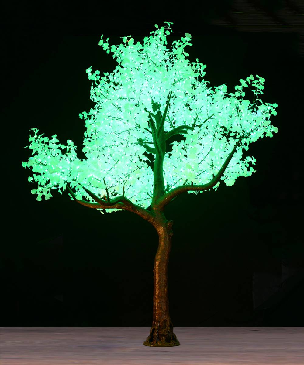 17Ft Skyline    *available in January 2020   The Skyline is the Premium tree for lighting large venues. They are ideal for stadiums, large convention centers and hotel atriums creating an impactful impression and spreading light into large areas.    The tree is 17feet tall and 13 feet in diameter. it has 4160 leds on 65 branches and can be dimmed with a dimmer switch if desired.  colors available for hire:   warm white, pure white, red, blue, green, yellow, purple, cyan and multi color.