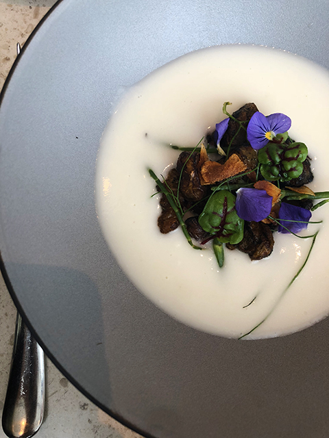 Vegan Sunchoke Soup at Botanist