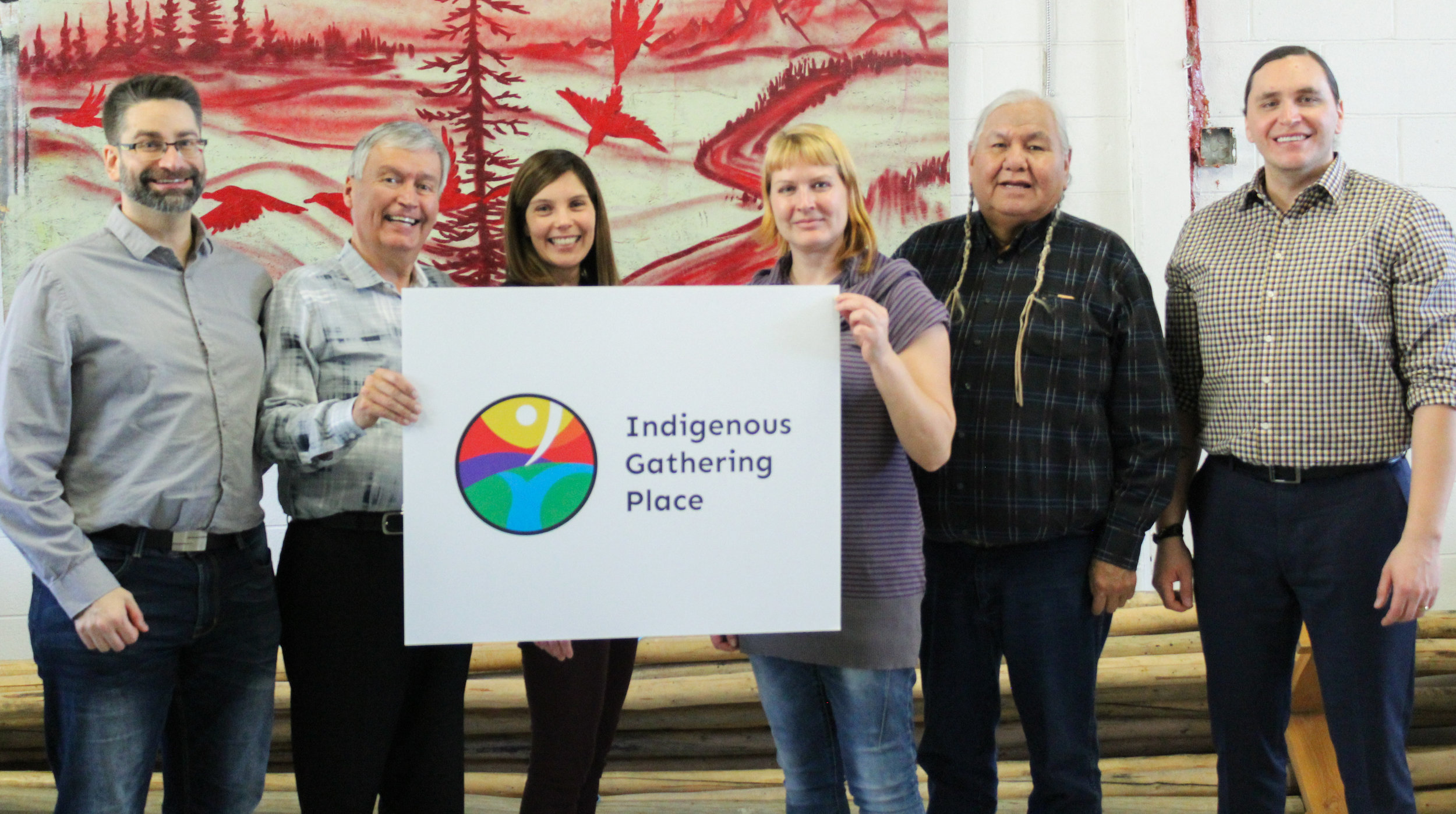 IGP Board members and Elder Advisor: (left to right) Mike Simeons, John Fischer, Lee Stevens, Janet Naclia, Elder Reg Crowshoe, Tyler Makinaw (regrets: Eve MacMillan)