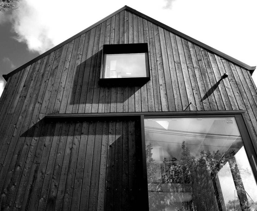 black hut designs. -