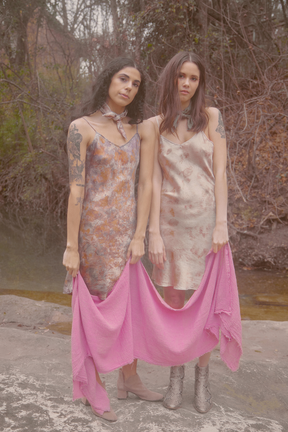 Marisa in Drift Slip and Ashtyn in Ethereal Dream Slip