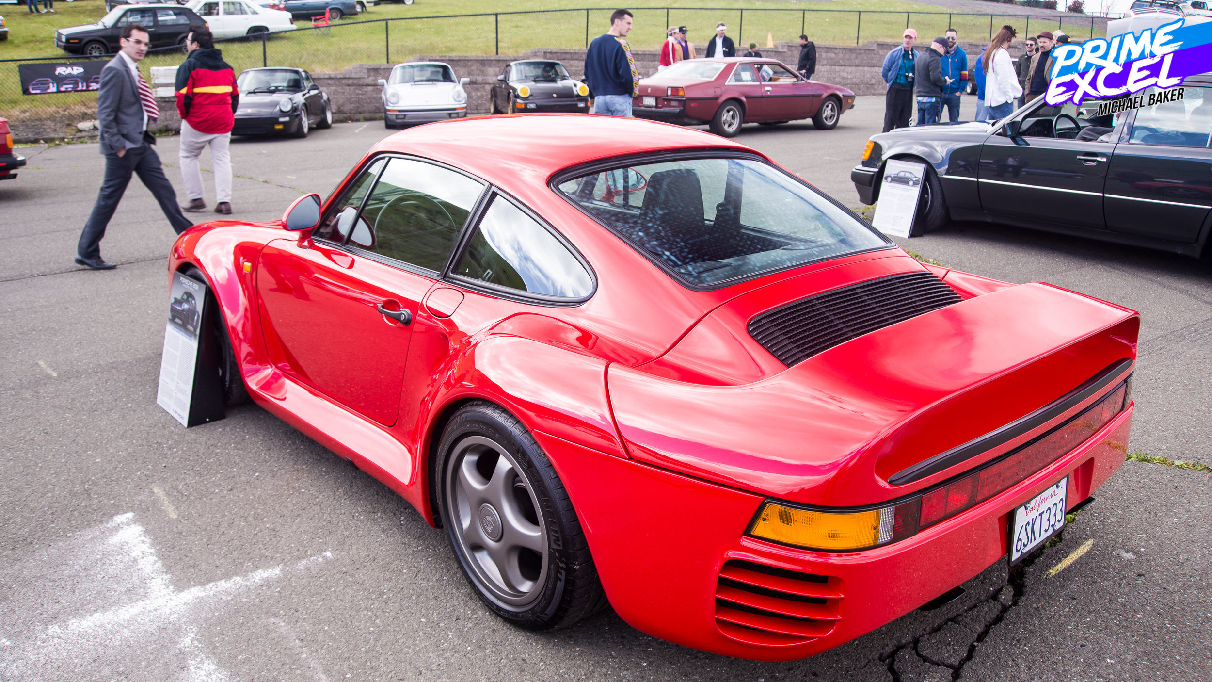 The aforementioned Porsche 959. Sadly, I did not get a ride in it.
