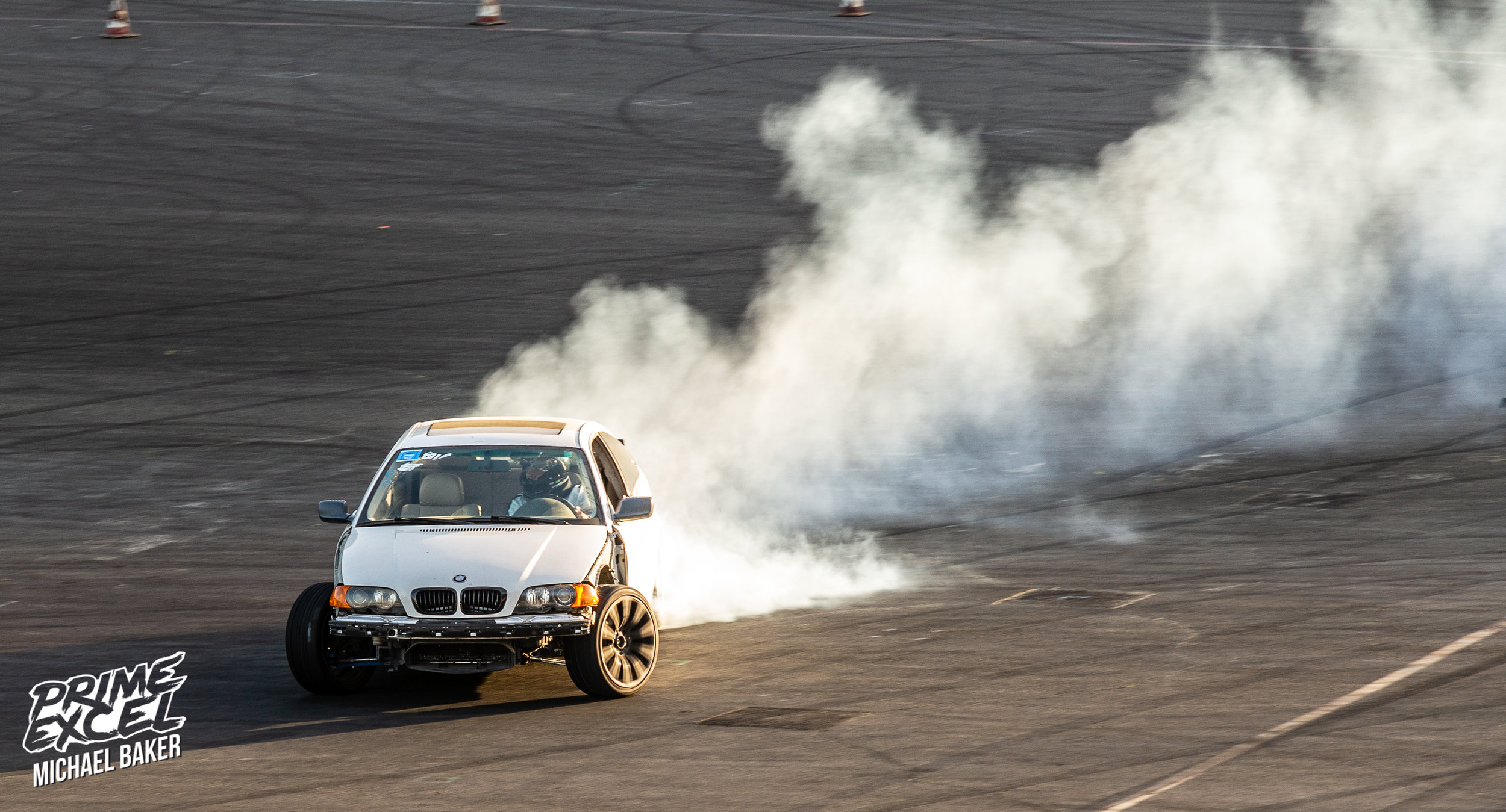 Some crazy angle and tire smoke made this E46 a car worth watching.