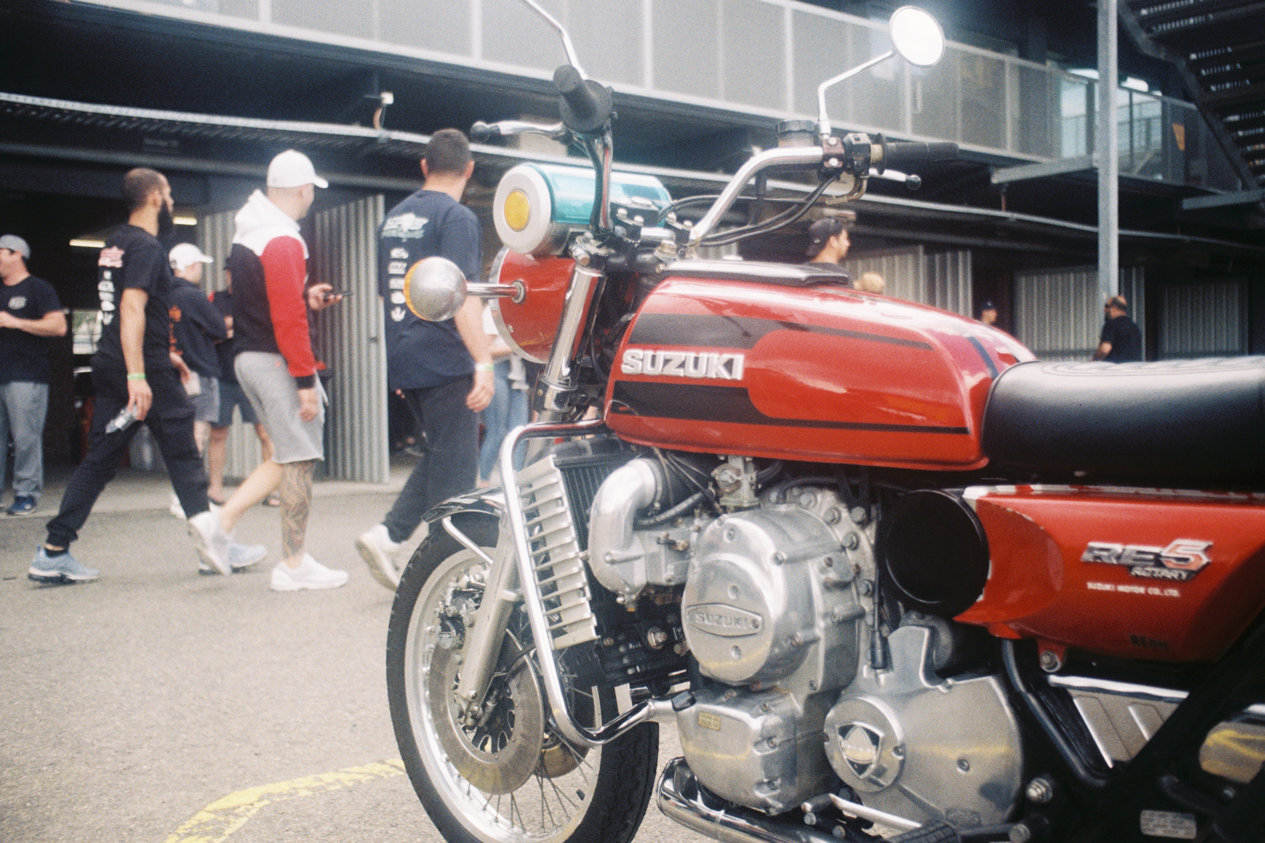 A Rare Suzuki RE5 rotary bike