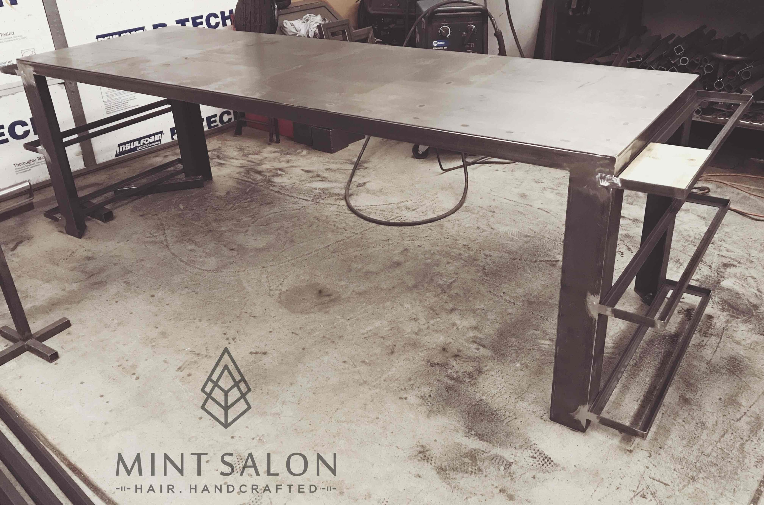 Custom processing and product table in progress.