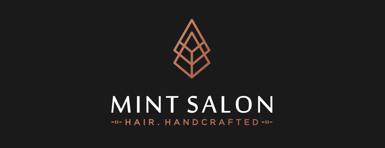 Mint Salon logo and brand design.