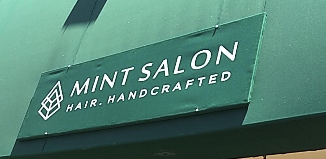 Canvas awning sign