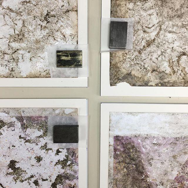Hinging some dirt works by @davislooksee #paper #emulsion #developer #earth