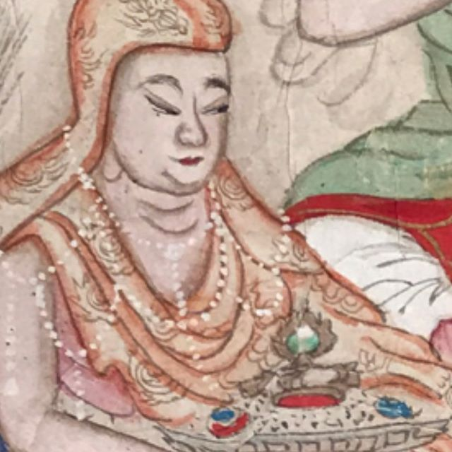 Us hinging this early 19th century Daoist scroll like #mood #jadeemperor #surroundedbyfigures #archivalframing #fineart #scroll #sothebys