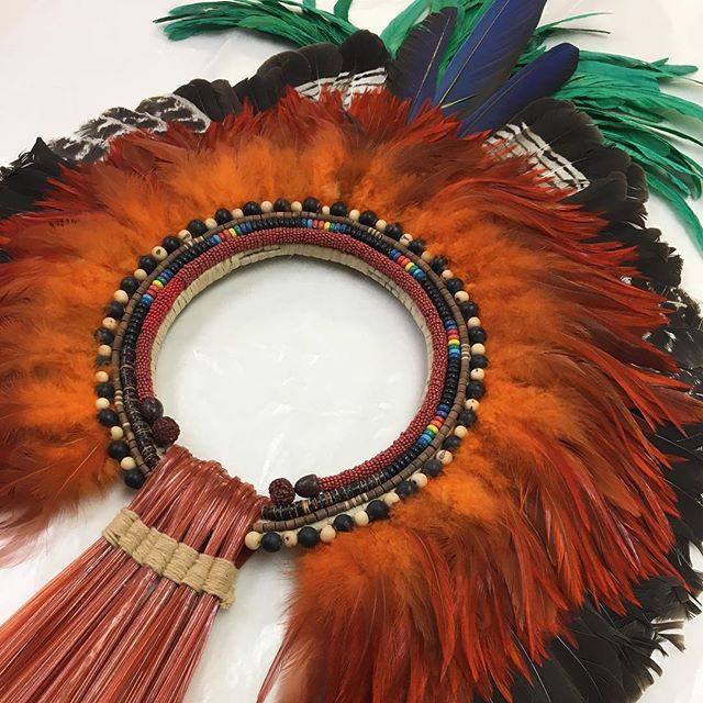 From the Amazon to the plexi box #fineart #mounting #framing #headdress