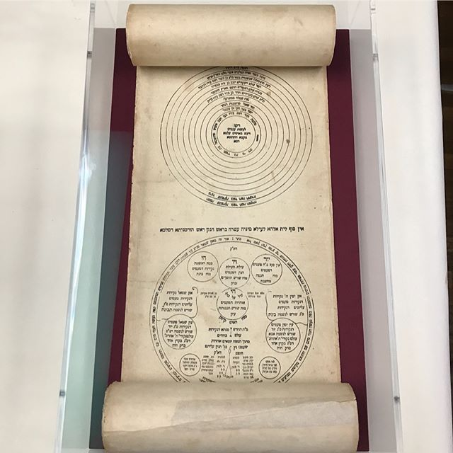 """""""This paper scroll is worth acquiring as an amulet to protect its buyer against all pain and damage, and also as a charm for raising children"""" - Ilan ha-gadol scroll (Kabbalistic scroll ca. 1864) #fineart #mountmaking #scroll #judaica"""