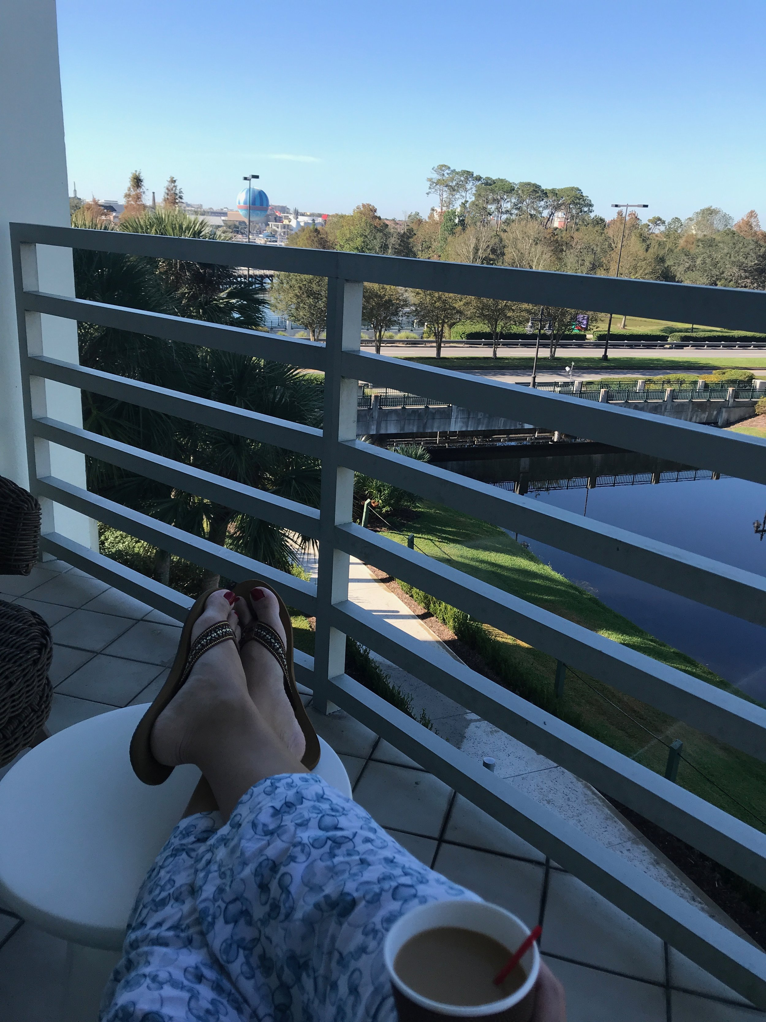 View of Disney Springs from Our Balcony -
