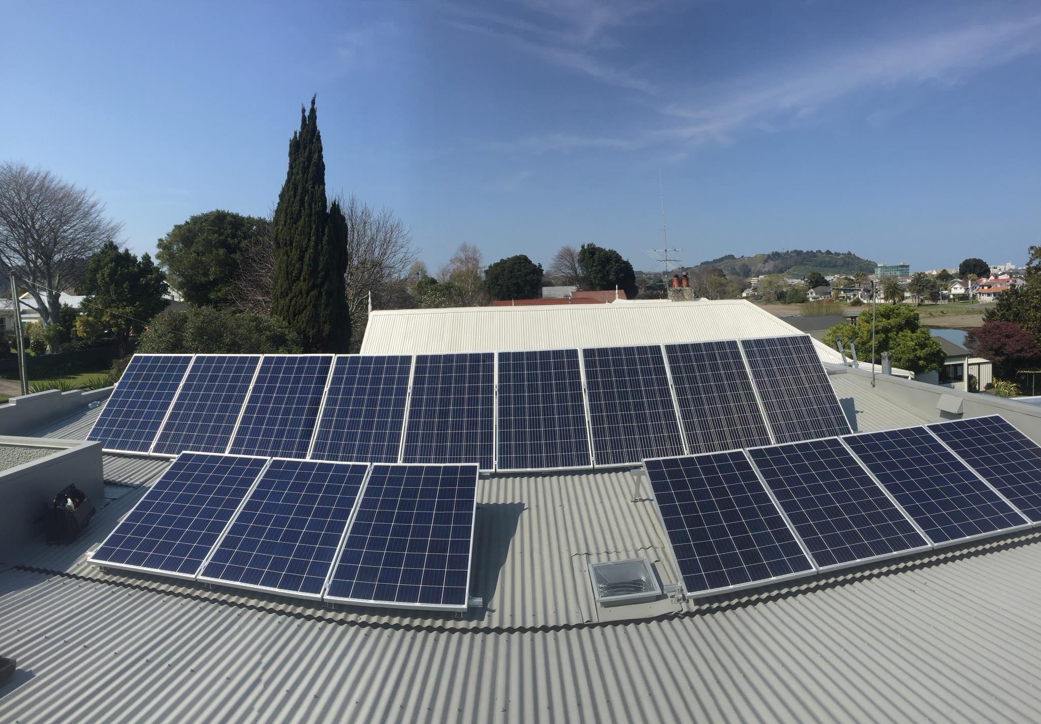 Solar panel installation Gisborne