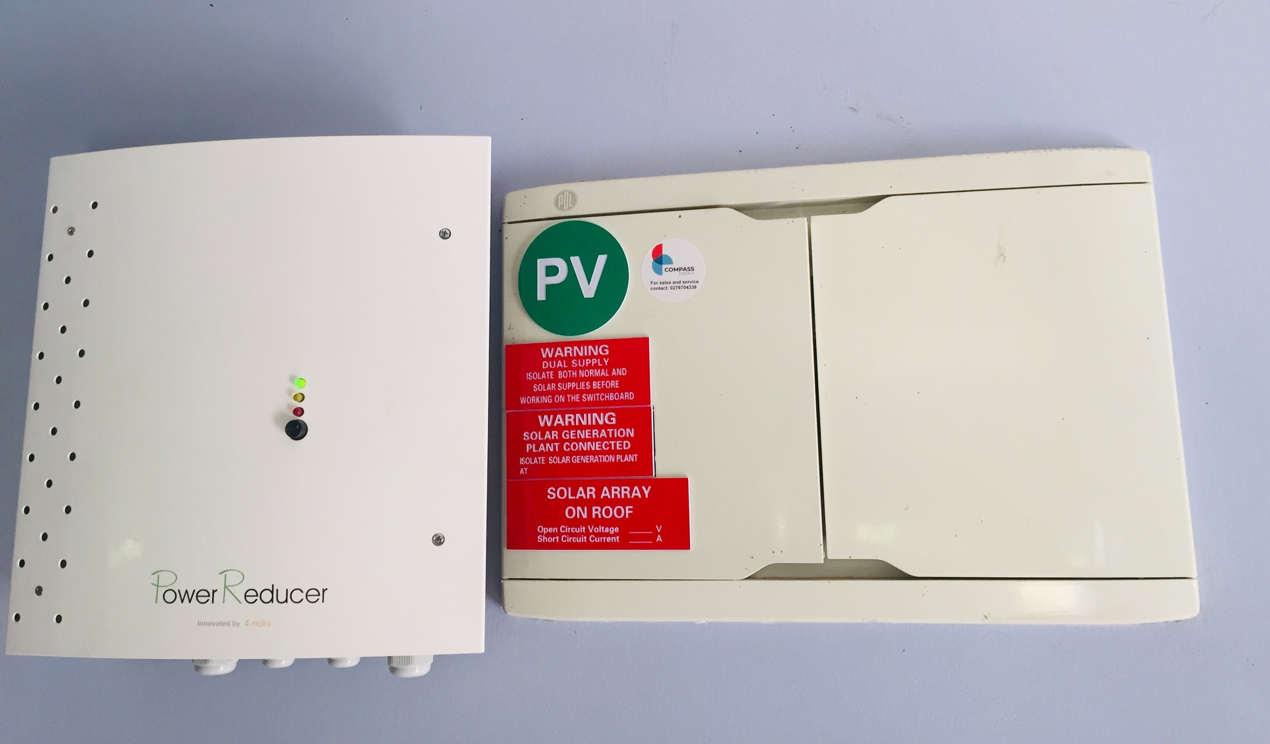 Hot water power reducer installation